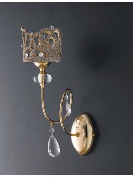 Applique classico oro con strass e cristalli 1 luce LGT Queen ap1