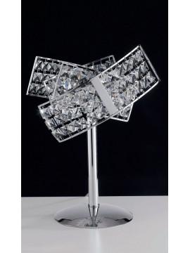 Lampada da tavolo moderna con cristalli a 2 luci LGT Satellite lg