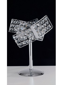 Modern table lamp with 2 lights crystals LGT Satellite lg
