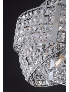 Lampadario moderno con cristalli design 6 luci LGT Saturno sp6