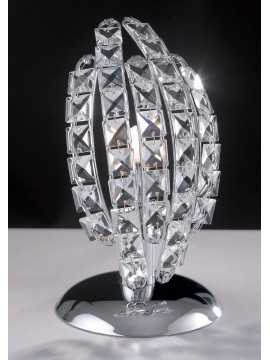 Lumetto moderno design con cristalli 1 luce LGT Florence lp