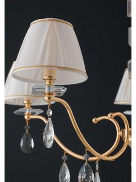 Lampadario classico oro con cristalli 5 luci LGT Golden sp5