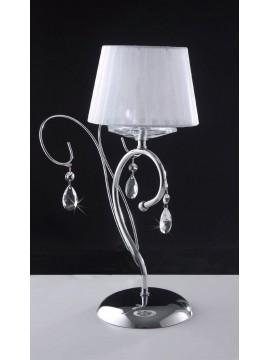 Lumetto moderno con cristalli neri 1 luce LGT Vegas lp
