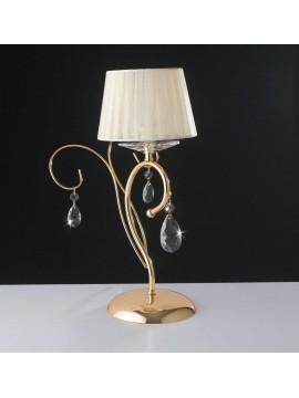 Lumetto oro classico con cristalli a 1 luce LGT Vegas lp