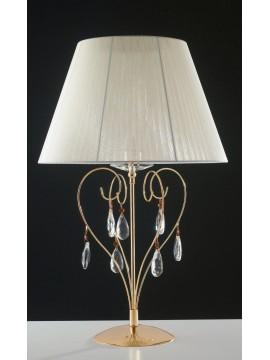 Lampada da tavolo oro classico con cristalli a 1 luce LGT Vegas lg