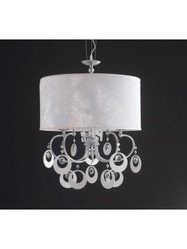 Lampadario moderno design cristallo 5 luci LGT Damasco 02 sp5