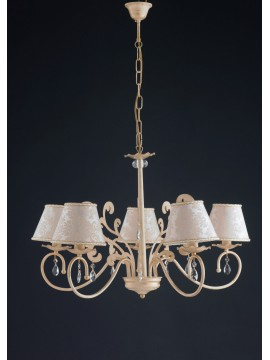 Classic chandelier in wrought iron 5 lights LGT Eleonora 01 sp5
