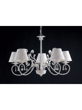 Contemporary chandelier in wrought iron 5 lights LGT Eleonora 02 sp5