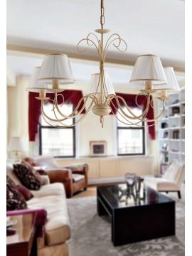 Contemporary chandelier in wrought iron 5 lights LGT Elisabetta sp5