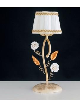 Lumetto classico in ferro battuto con rose 1 luce LGT Bouquet lp