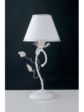Lumetto contemporaneo con rose 1 luce LGT Bouquet lp bianco