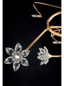 Lampadario moderno oro con cristallo 5 luci LGT Teo sp5
