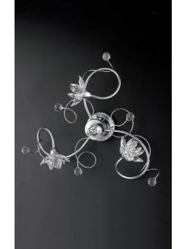 Plafoniera moderna con cristalli 3 luci LGT Madrid pl3
