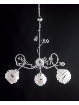 Lampadario moderno con sfere in cristallo 3 luci LGT Capri sp3