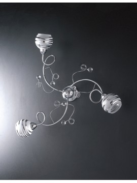 Plafoniera moderna con sfere in cristallo 3 luci LGT Capri pl3