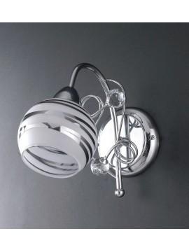 Applique moderno con sfere in cristallo 1 luce LGT Capri ap1
