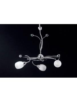 Lampadario moderno con cristalli e vetri 3 luci LGT Mary sp3