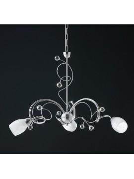 Lampadario moderno con cristalli e vetri 3 luci LGT Infinity sp3