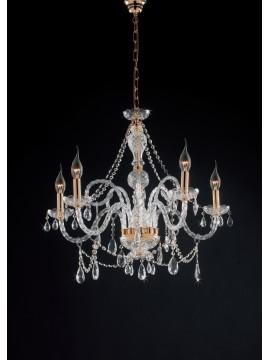 Lampadario classico in cristallo swarosky 5 luci LGT Maria teresa sp5