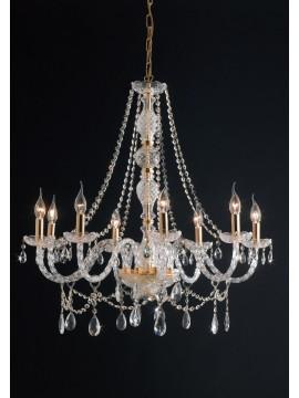 Lampadario classico in cristallo swarosky 8 luci LGT Maria teresa sp8