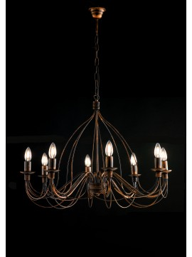 Classic chandelier in wrought iron 8 lights LGT Spain sp8 rust