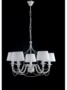 Classic chandelier in wrought iron 5 lights LGT Spain sp5 white
