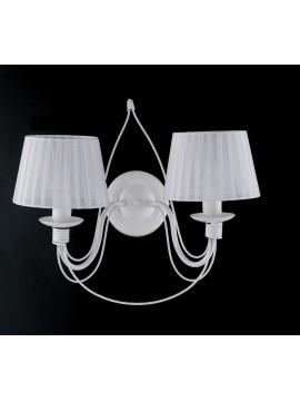 Applique classico in ferro battuto 2 luci LGT Spagna ap2 bianco