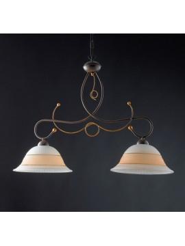 Bilanciere a lampadario classico in ferro battuto 2 luci LGT Amalfi