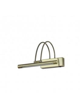 Applique a 1 luce moderno a led coll. bow ap36 brunito