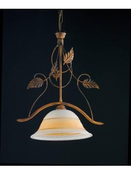 Lampadario classico in ferro battuto 1 luce LGT Solaris