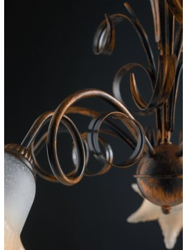Classic chandelier in wrought iron 5 lights LGT Morena