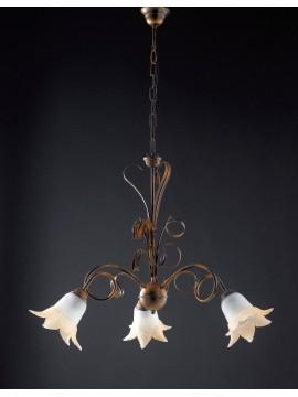 Lampadario classico in ferro battuto 3 luci LGT Morena