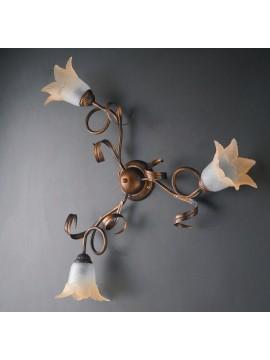 Plafoniera classica in ferro battuto 3 luci LGT Morena