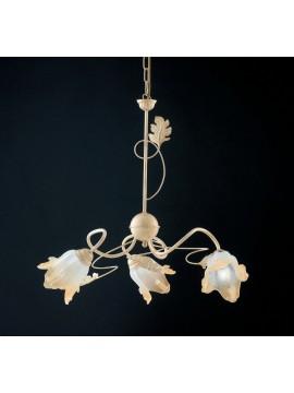 Traditional chandelier in wrought iron 3 lights LGT Girandola