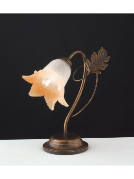 Classic table lamp in wrought iron 1 light LGT Dark pinwheel