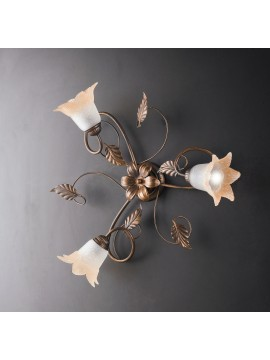 Traditional ceiling lamp in wrought iron 3 lights LGT Anastasia