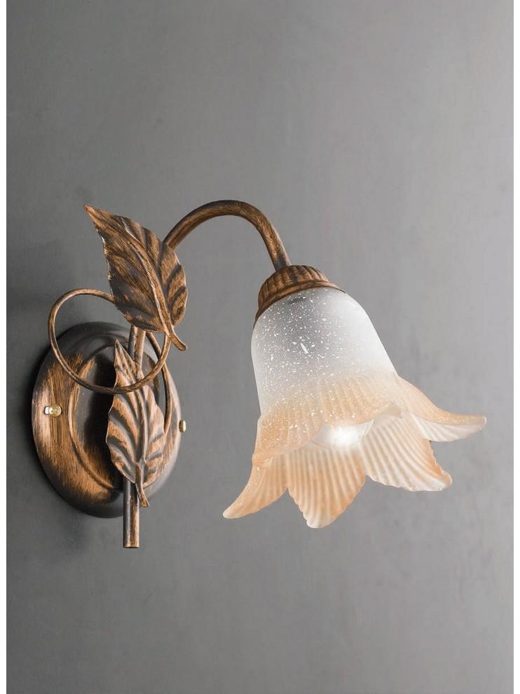 Classic wrought iron wall light 1 light LGT Anastasia
