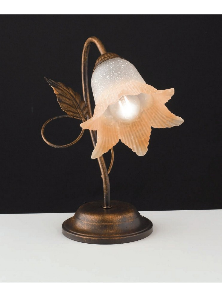 Classic table lamp in wrought iron 1 light LGT Anastasia