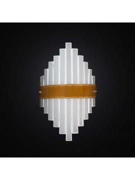 Applique moderno in vetrofusione bianco-arancione 1 luce BGA 2953-a1