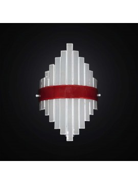 Modern wall lamp in white-red glass fusion 1 light BGA 2953-a1