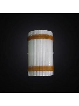 Applique design moderno vetrofusione bianco-ambra 1 luce BGA 2959-a1