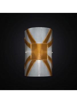 Applique moderno vetrofusione bianco-ambra 1 luce BGA 2960-a30
