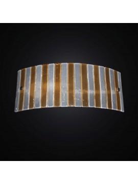 Applique moderna vetrofusione bianco-ambra 1 luce BGA 2963-a27