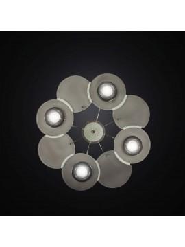 Plafoniera moderna con faretti e vetrofusione 4 luci BGA 2980-pl60