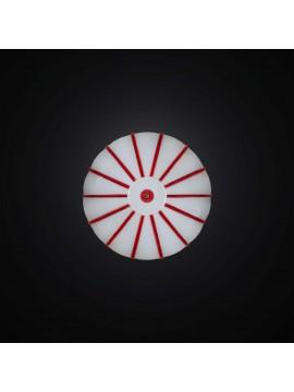 Plafoniera moderna in vetrofusione bianca e rossa 1 luce BGA 2981-pl30