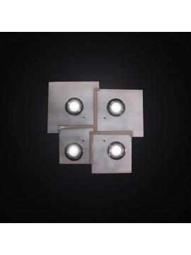 Plafoniera con faretti bianco e tortora 4 luci BGA 2984-pl4