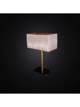 Lampada da comodino classica oro con base in vetro 1 luce BGA 2987-lp