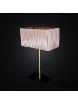 Lampada da tavolo classica oro con base in vetro 1 luce BGA 2987-lg