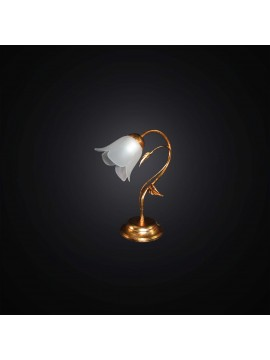 Classic table lamp in wrought iron gold leaf 1 light BGA 2990-lp