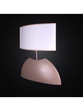 Lume grande in ceramica tortora ovale a 1 luce BGA 2992-lg